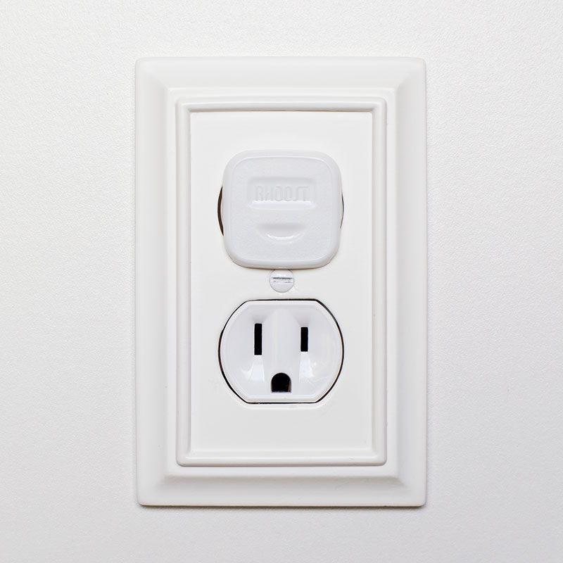 Rhoost Outlet Cover in use